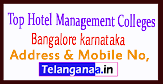 Top Hotel Management Colleges in Bangalore karnataka