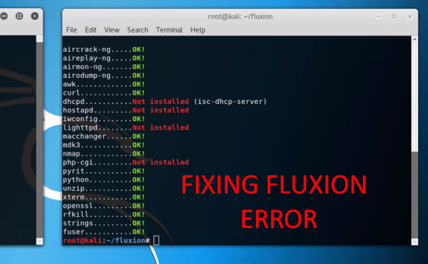 Solved] How to fix Fluxion errors - Php-cgi - dhcpd
