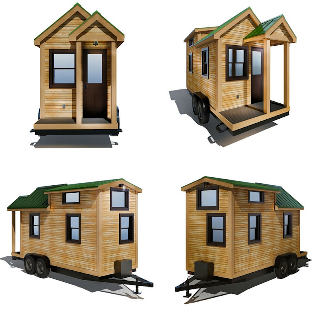Roving Tiny House by 84 Lumber