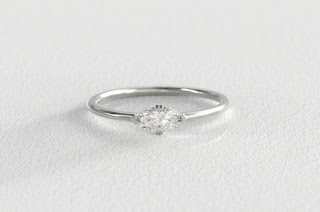 s kind co miinimalist diamond engagement ring