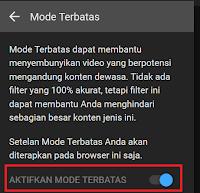 Hindari Konten Negatif Dengan Mengaktifkan Mode Terbatas Youtube