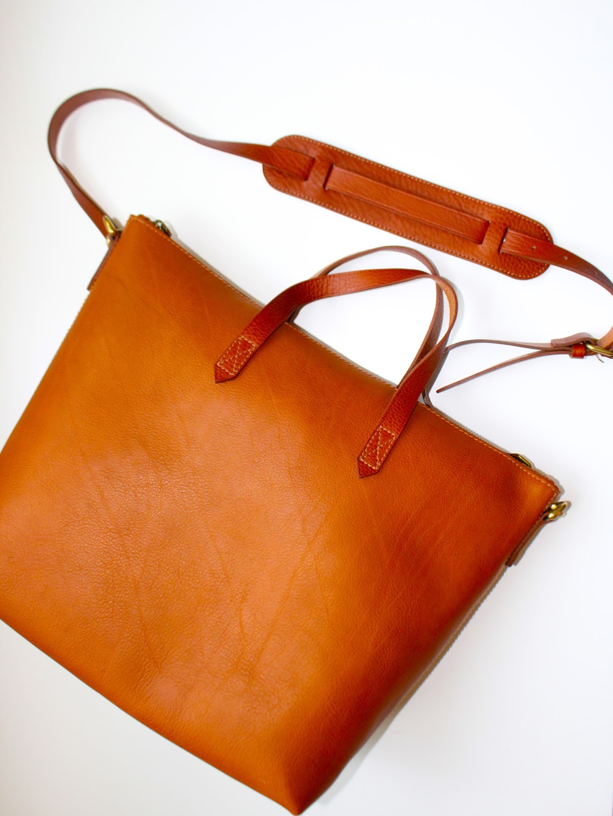 the madewell zip transport tote