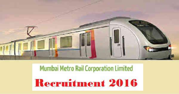 All Ind Jobs: Mumbai Metro Rail Recruitment Notification 2016