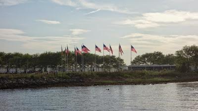US flag plaza