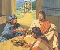 JESÚS COME CON PUBLICANOS Y PECADORES EN CASA DE MATEO