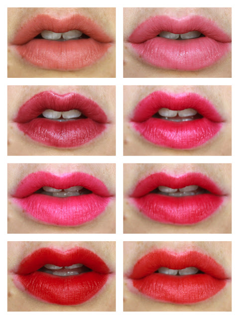 Maybelline Vivid Matte Liquid Lipsticks review swatch swatches 50 nude thrill 05 nude flush 45 possessed plum 40 berry boost 15 electric pink 30 fuchsia ecstacy 5 rebel red 25 orange shot