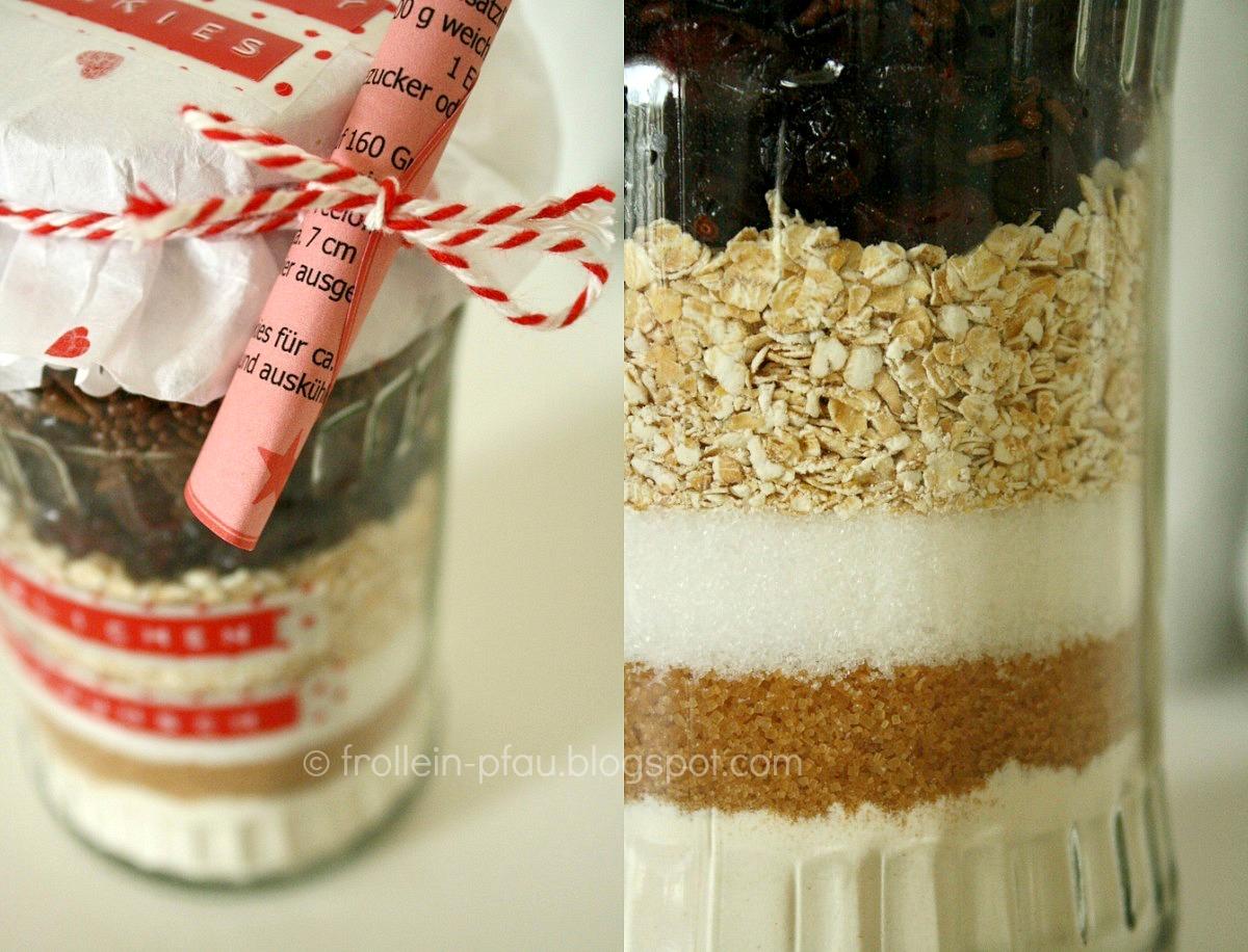 Frollein Pfau Kuchen Cookies Im Glas Backmischungen