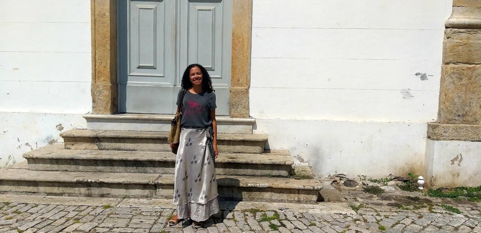 Marta Paes em seu primeiro dia de Garimpo no Tour Pequena África