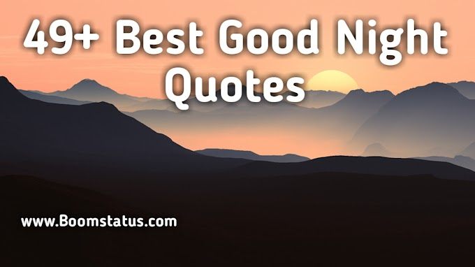49+ Best Good Night Quotes about Success and Love