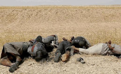 It's Payback Time As ISIS Soldiers' Decaying Bodies Found Blind-Folded, Bound, and Shot In Desert