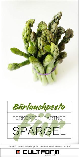 Grüner Spargel mit Bärlauchpesto. Bärlauch als Pesto - Wunderwaffe für (fast) jedes Rezept
