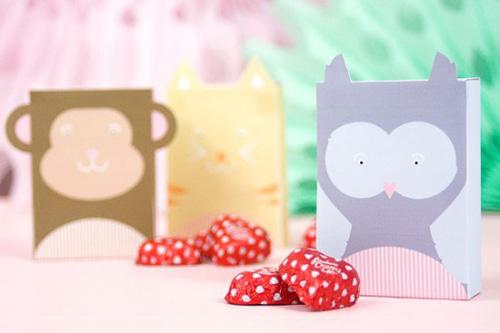 My Owl Barn Printable Animal Valentine Boxes