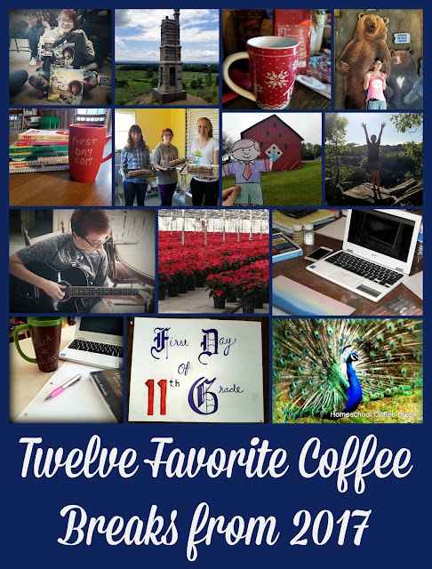 Twelve Favorite Coffee Breaks from 2017 on Homeschool Coffee Break @ kympossibleblog.blogspot.com