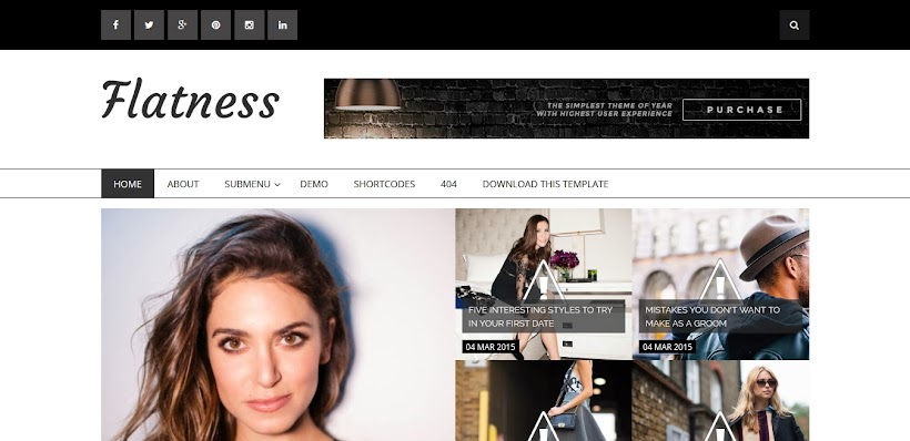 Flatness Free Blogger Template