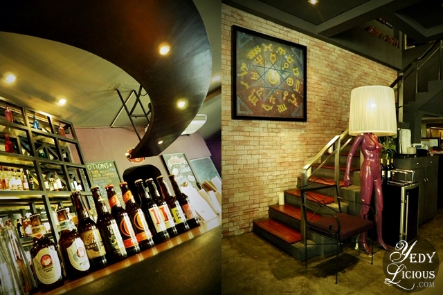 The bar and the Stairs Inside Alchemy Makati