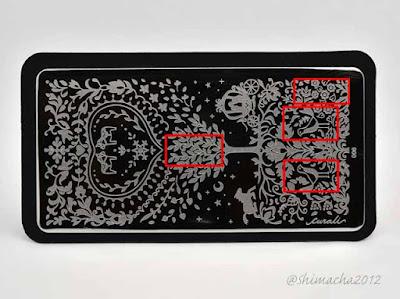 Curali Nail Stamping: 006 Folky