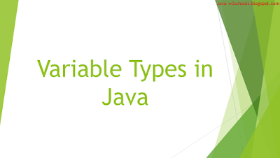 Variable Types in Java
