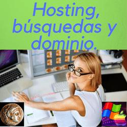 alojamientos con las opciones para obtener un dominio web y mejorar resultados en las búsquedas para posicionar, y hostings gratis.