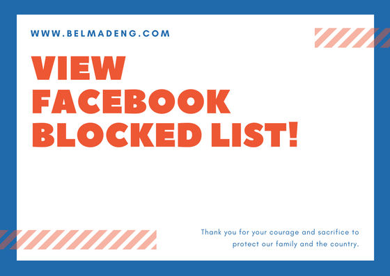 View Your Blocked List On Facebook