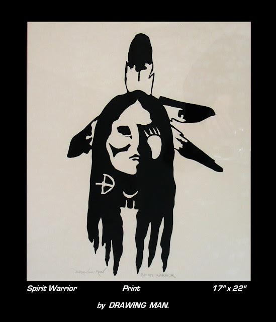 Drawing Man picture Spirit Warrior