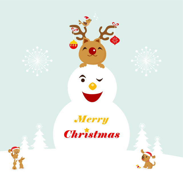 Christmas Vector Wishes free vector