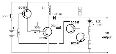 Secret Diagram: Low Cost 1 5 to 9 Volts Inverter