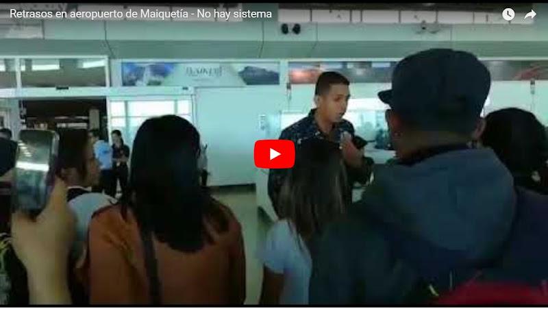 Fuertes retrasos en el Aeropuerto de Maiquetía por múltiples fallas