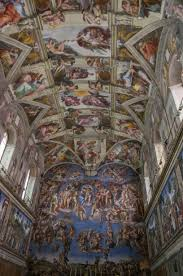 Michelangelo's incredible work on the ceiling of the Sistine Chapel