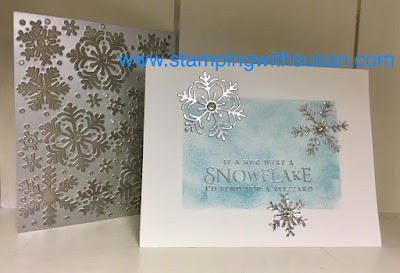 Stampin' Up!, 2018 Holiday Catalog, www.stampingwithsusan.com, Beautiful Blizzard Bundle, Sponging