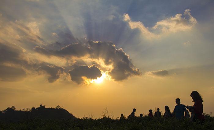 Senja di Kebun Teh Kemuning, Ngargoyoso, Karanganyar