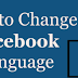How to change Facebook Language