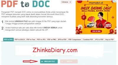 Cara Convert PDF ke Word secara Gratis - pdf2doc.com