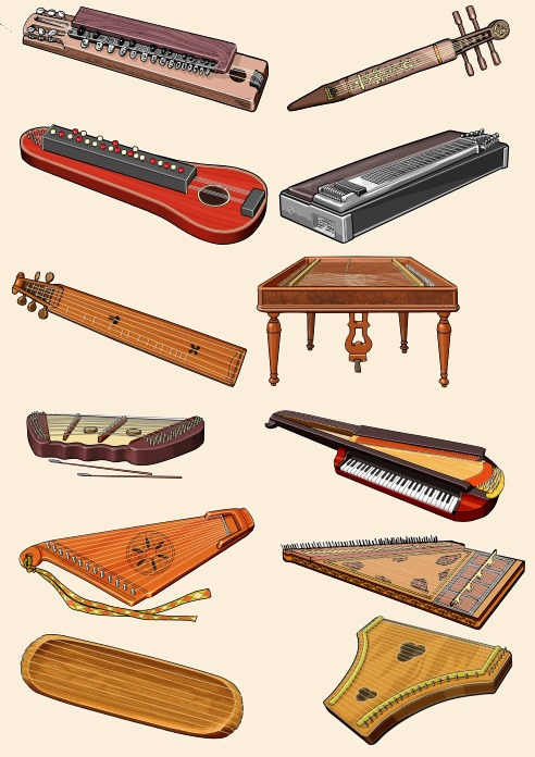 Instruments of the zither family