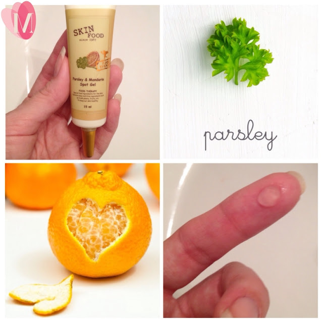Gel trị mụn parsley and mandarin spot gel review