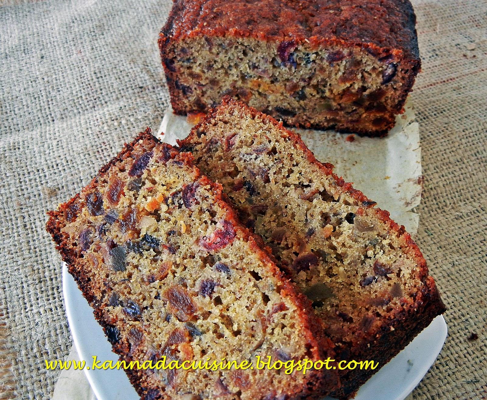 Cake Recipe In Kannada Video: KANNADA CUISINE: Fruit Cake