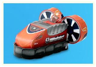 Zuma de Paw Patrol: Aerodeslizador  3D de Papel, Para Imprimir Gratis.