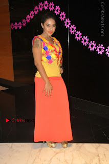 Telugu Actress Model Sri Reddy Latest Stills in Yellow Dress  0024.JPG