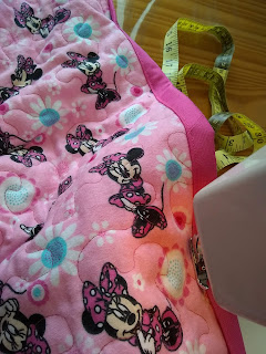 ProsperityStuff Binding on Flannel Minnie Mouse Quilt
