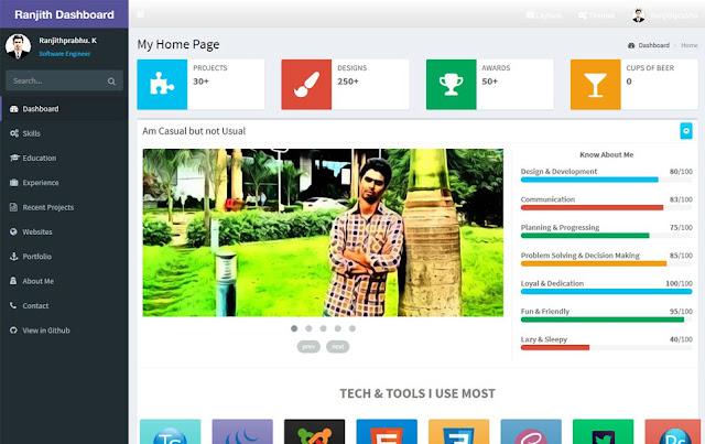 Angular Bootstrap Dashboard free admin template