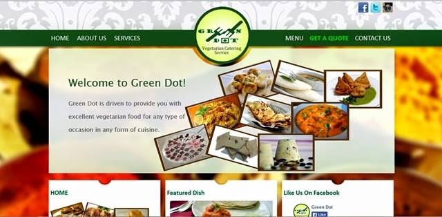 Green Dot Vegetarian Catering and Food Delivery Service Manila Website