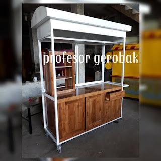 gerobak kayu modern