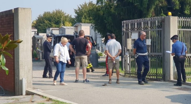59-year old Albanian cemetery worker found dead at Cuggiono Graveyard