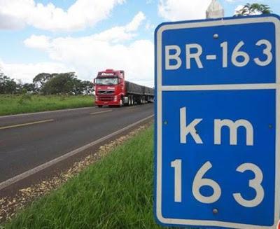 ANTT autoriza reajuste de 2,18% em pedágio da BR-163 em Mato Grosso