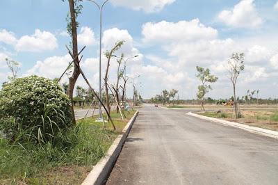 Đất mặt tiền đường - Five Star Eco City - thành phố sinh thái năm sao.