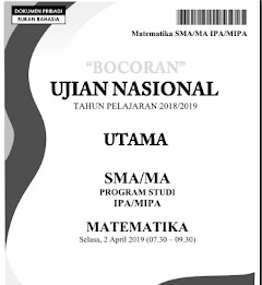 Soal Try Out Soal UN Matematika SMA IPA dan IPS Tahun 2019