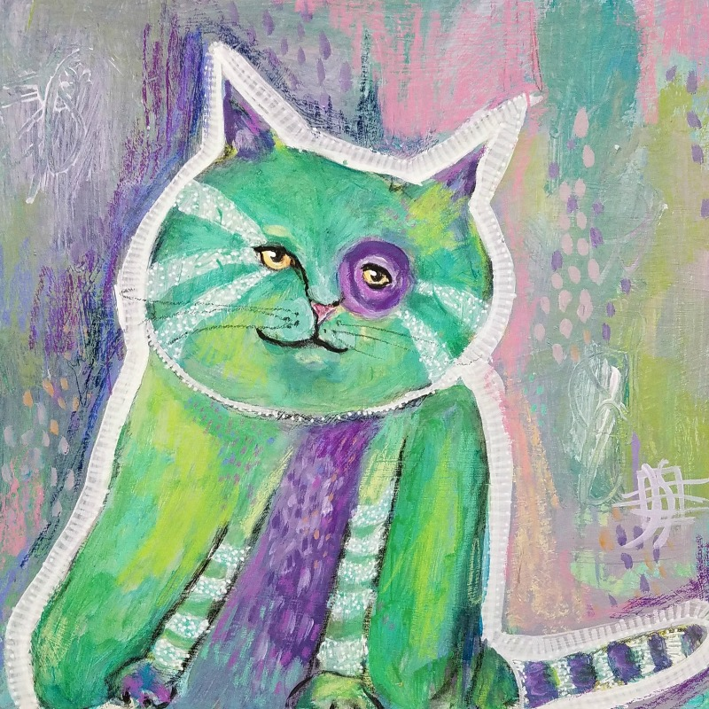 CAT #9 by Joanie Springer 30 cats in 30 days