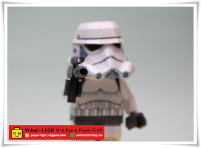 Free Download LEGO Stormtrooper Papercraft Template