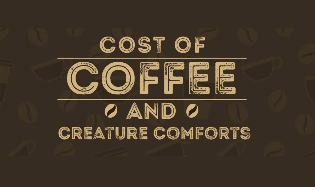 Cost Of Coffee And Creature Comforts