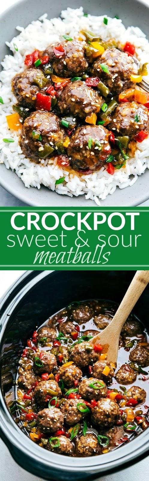 Crockpot Sweet & Sour Meatballs