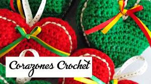 Corazones Crochet para Navidad / Paso a paso